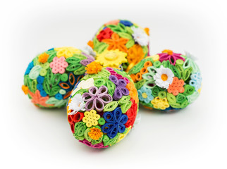 Easter eggs made of colored paper
