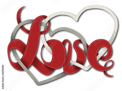 Valentines day card - Leather letters