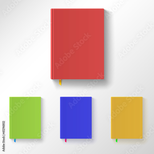 Book with color covers and bookmarks