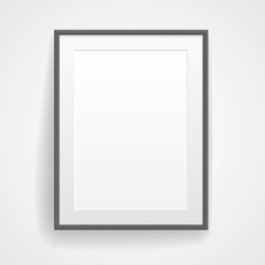 Blank paper poster with frame