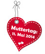 Muttertag 2014 Anhänger - Vektor