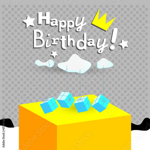 happy birthday greeting card, gifts