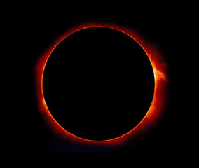 "Solar Eclipse ""Elements of this image furnished by NASA"""