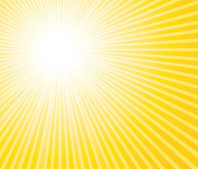 Summer sunburst background.