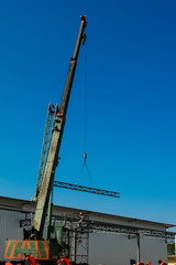 auto crane on construction site