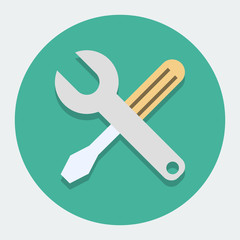 Screwdriver And Wrench,Settings Icon