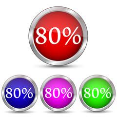 иконка скидка 80 процентов
