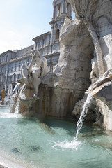 Bernini's fountain at piazza Navona in Rome