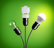 Evolution of light bulbs - 61298695