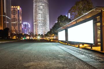 night scene of modern building