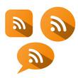 RSS Buttons (headlines news feed breaking internet web media)