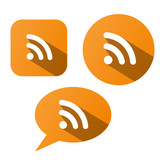 RSS Buttons (headlines news feed breaking internet web media)
