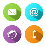 CONTACT BUTTONS (icons details customer service support help us)