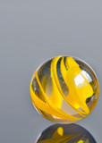 yellow glass marble