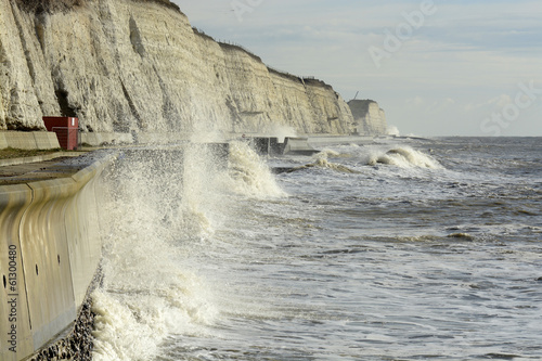 Rough sea at Brighton. England