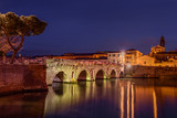 Bridge of Tiberius in Rimini, Italy