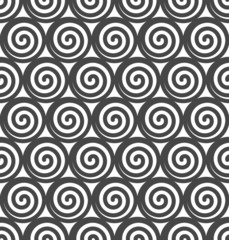 Abstract spiral vector seamless background.