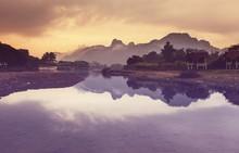 Vang Vieng krajobrazy