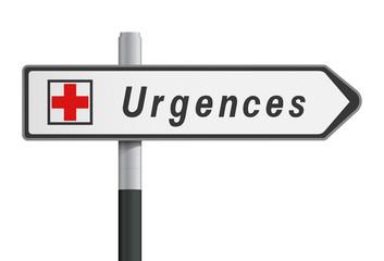 Panneau - Urgences