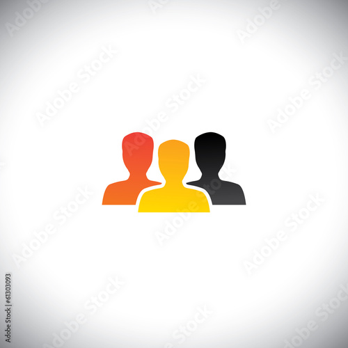 colorful people concept vector of team, teamwork & community