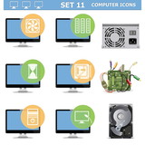 Vector Computer Icons Set 11