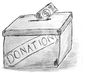 hand draw sketch, Donation Box