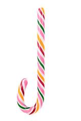 Close up of lollipop cane.