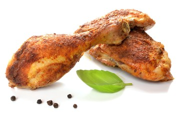 Leg with grilled chicken