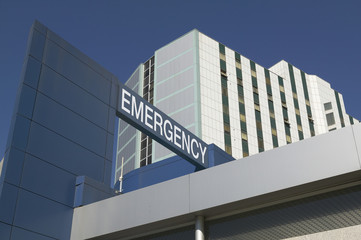 Emergency Sign on Hospital entrance