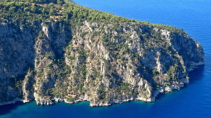 Butterfly valley deep gorge fethiye turkey