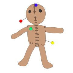 cartoon image of voodoo doll
