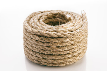 Rope Coiled on white background