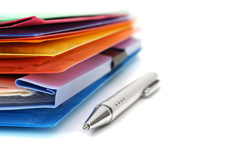 accounting concept with files and folders