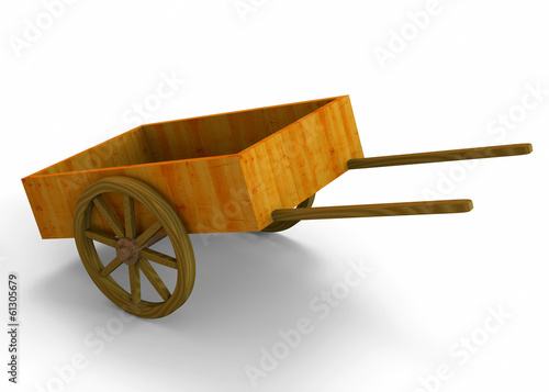 Old Carriage - 3D