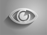 3d Vector illustration of a eye icon