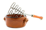 heat resistant bowl with masher