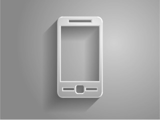 3d Vector illustration of smartphone icon
