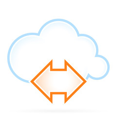 Cloud Computing Icon Communication