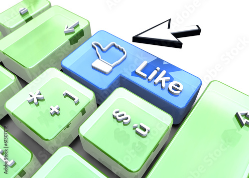 Like Button - 3D