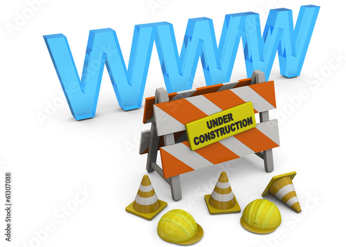 Website Under Construction - 3D