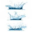 Leinwandbild Motiv Set of Water Splashes