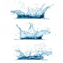 Zestaw bryzgami wody