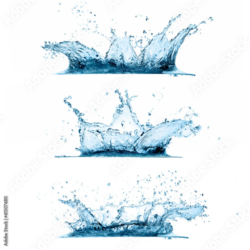 Set of Water Splashes © Casther