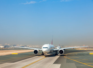 Planes on taxiway