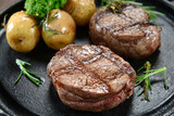 Fillet of beef and potatoes