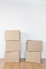 Stacked Moving Boxes