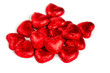 heart-shaped candies isolated on white