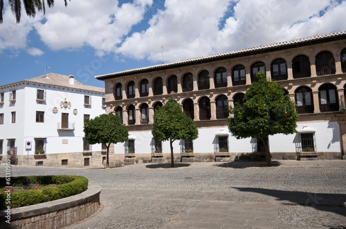 Main Square in Ronda, Malaga, Andalusia, Spain