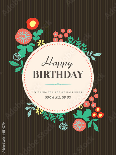 Happy Birthday card design