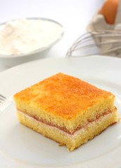 Home made victoria sponge or pound cake